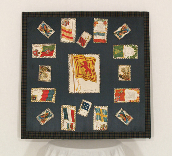 UF6 Tobacco Silks Folk Art, mounted