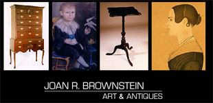 Logo for Joan R. Brownstein Art and Antiques