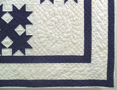 An example of custom quilting done by Rocky Mountain Quilts